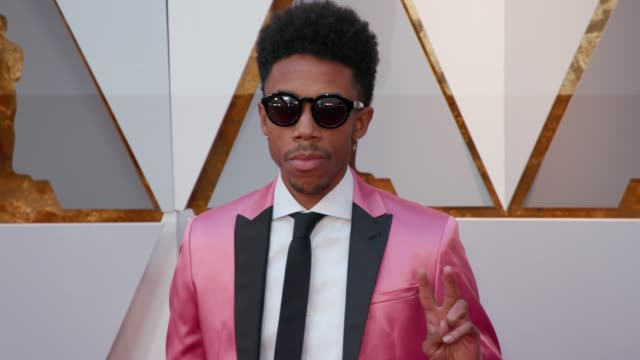 Darrell BrittGibson at 90th Academy Awards Arrivals 4K Footage at Dolby Theatre on March 04 2018 in Hollywood California