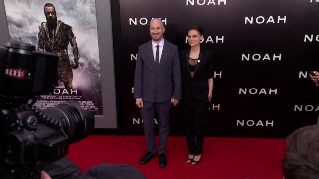 darren aronofsky and brandiann milbradt at noah new york premiere arrivals at ziegfeld theater on march 26 2014 in new york city - darren aronofsky stock videos and b-roll footage