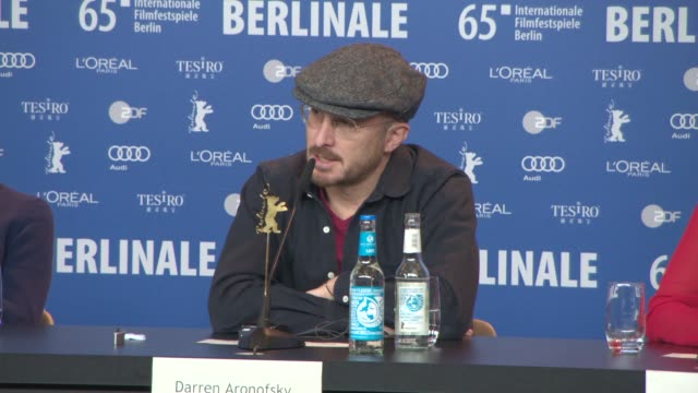 interview darren aronofsky on how it feels being in competition and being on the jury his approach to judging the films at international jury press... - darren aronofsky stock videos and b-roll footage
