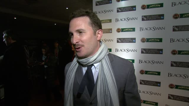 darren aronofsky on no one getting hurt during filming at the black swan premiere 54th bfi london film festival at london england - darren aronofsky stock videos and b-roll footage