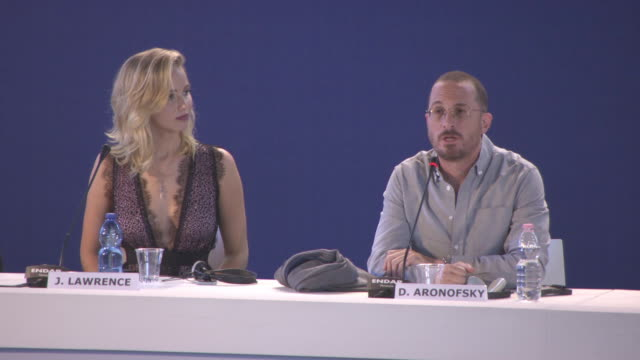 darren aronofsky on the importance on staying up with the news, the film being a rollercoaster ride from start to finish at 'mother!' press... - 第74回ベネチア国際映画祭点の映像素材/bロール