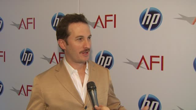 darren aronofsky on why afi is so important to him at the 2010 afi awards at los angeles ca - darren aronofsky stock videos and b-roll footage