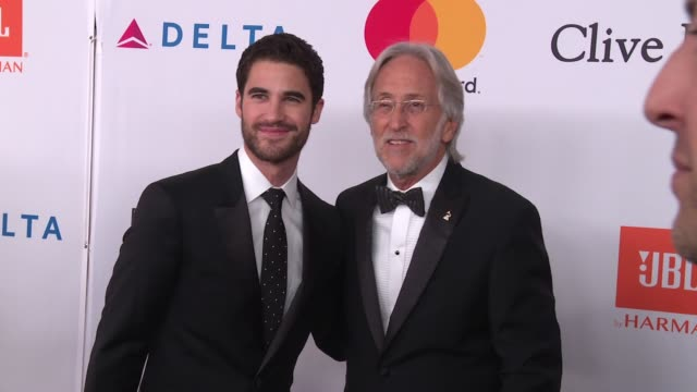 Darren Criss and Neil Portnow at Clive Davis PreGRAMMY Gala at Sheraton Times Square on January 27 2018 in New York City