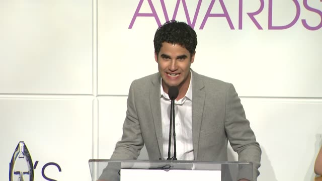 darren criss announces the nominees at the 2014 people's choice awards nominations announcement in beverly hills 11/05/13 - people's choice awards stock videos & royalty-free footage