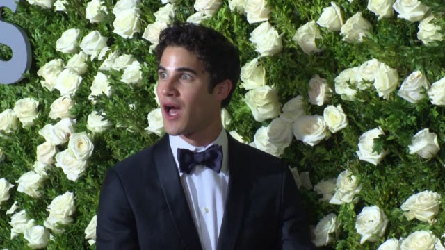Darren Criss at 2017 Tony Awards Red Carpet at Radio City Music Hall on June 11 2017 in New York City