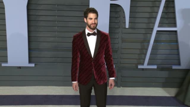Darren Criss at 2018 Vanity Fair Oscar Party in Los Angeles CA
