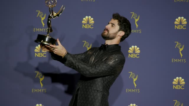 Darren Criss at the 70th Emmy Awards Photo Room at Microsoft Theater on September 17 2018 in Los Angeles California