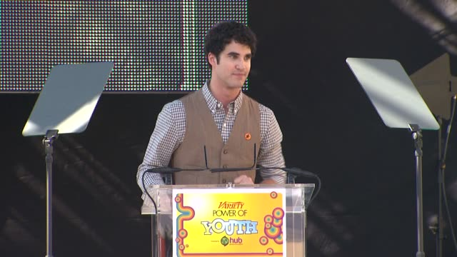 Darren Criss at the Variety's 5th Annual Power Of Youth Event at Los Angeles CA