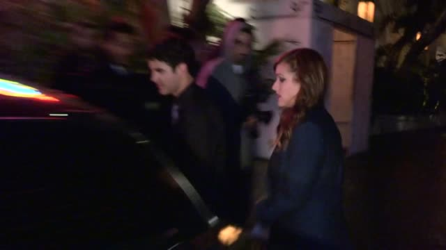 Darren Criss Mia Swier depart 30 Seconds to Mars After Party at Chateau Marmont in WeHo at Celebrity Sightings in Los Angeles Darren Criss Mia Swier...