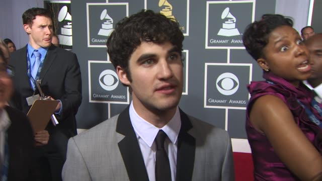 darren criss on supporting the glee cast, why its great for the show to receive this recognition, who he excited to see perform and talks about his... - ecstatic stock videos & royalty-free footage