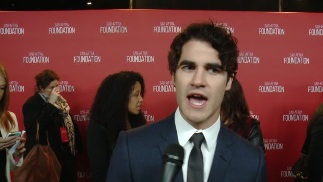 INTERVIEW Darren Criss on the eventat SAG Foundation 30th Anniversary Celebration at Wallis Annenberg Center for the Performing Arts on November 05...