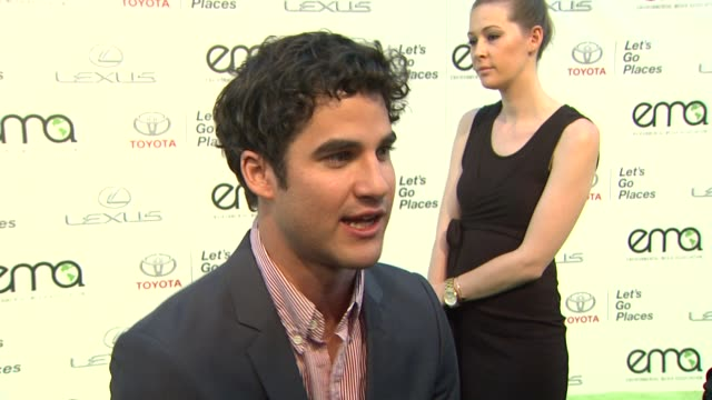 INTERVIEW Darren Criss on the Halloween Awards 2013 Environmental Media Awards Presented by Toyota Lexus at Warner Bros Studios in Burbank CA on...