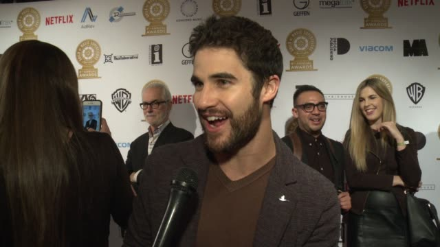 INTERVIEW Darren Criss on what do you think it means to the music supervisors to be represented in this way at 8th Annual Guild of Music Supervisors...