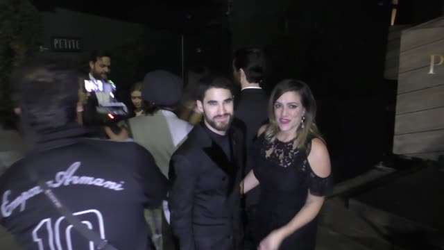 Darren Criss outside Seth Meyers' Golden Globe Awards After Party at Poppy Nightclub in West Hollywood in Celebrity Sightings in Los Angeles