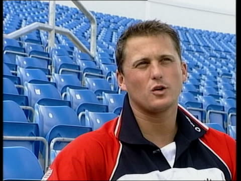darren gough interviewed sot grow up wanting to beat australia if you're only going to play one test you want it to be against these boys - only boys stock videos & royalty-free footage