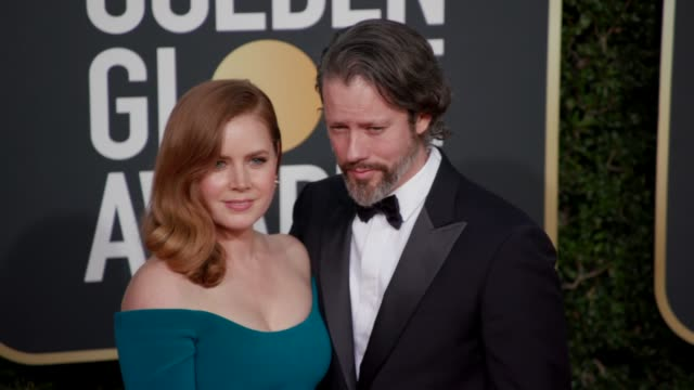 Darren Le Gallo Amy Adams at 76th Annual Golden Globe Awards Arrivals in Los Angeles CA 1/6/19 4K Footage