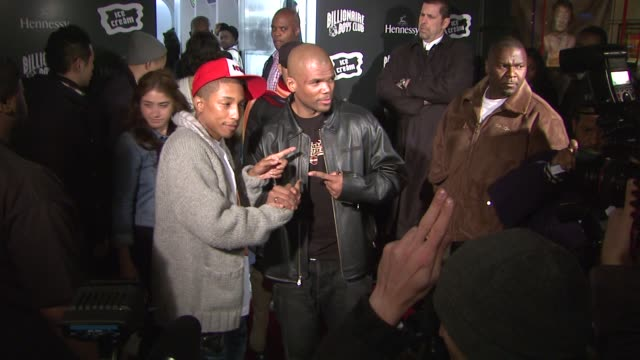 darryl 'dmc' mcdaniels and pharrell williams at the opening of the billionaire boys club/ice cream flagship store at billionaire boys club/ice cream... - darryl mcdaniels stock videos & royalty-free footage