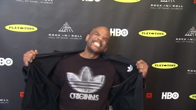darryl 'dmc' mcdaniels at 28th annual rock and roll hall of fame induction ceremony - arrivals 4/18/2013 in los angeles, ca. - darryl mcdaniels stock videos & royalty-free footage