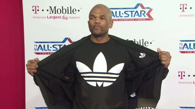 darryl mcdaniels at the t-mobile magenta carpet at the 2011 nba all-star game at los angeles ca. - darryl mcdaniels stock videos & royalty-free footage
