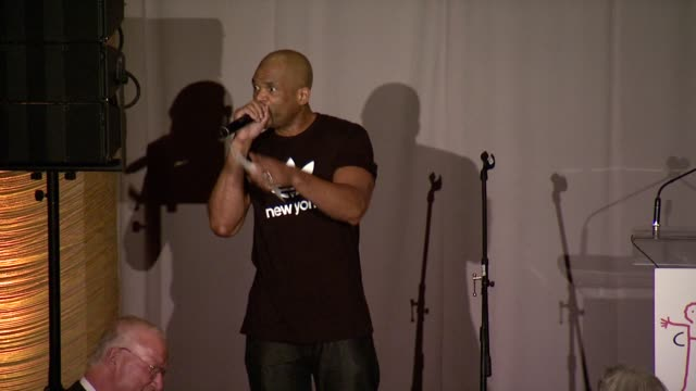 darryl mcdaniels talks about why we have to fight for children's rights and why it is working, he introduces rosie perez at 8th annual children's... - rosie perez stock videos & royalty-free footage