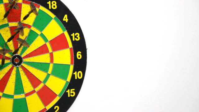 dart board - dart board stock videos & royalty-free footage