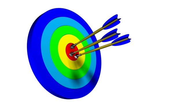 Dart into the target