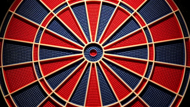 dartboard,close up - darts stock videos and b-roll footage