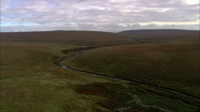 dartmoor  - aerial view - england, united kingdom - dartmoor stock videos & royalty-free footage