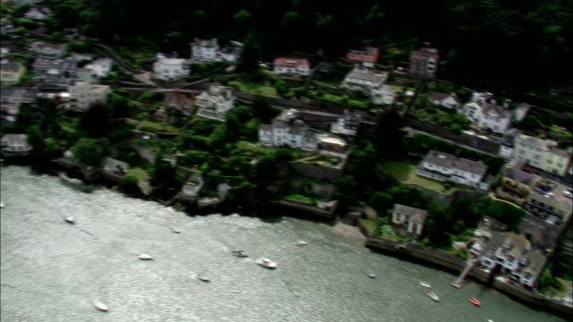 Dartmouth harbour bustles with boats. Available in HD.