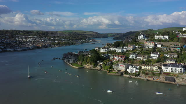 dartmouth, kingswear and the river dart, devon, england - devon stock videos & royalty-free footage