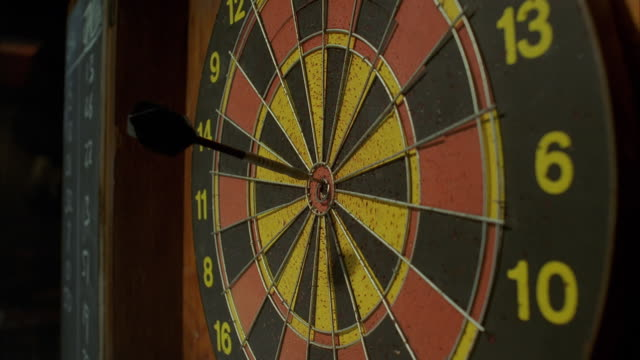 CU Darts striking target bull's-eye