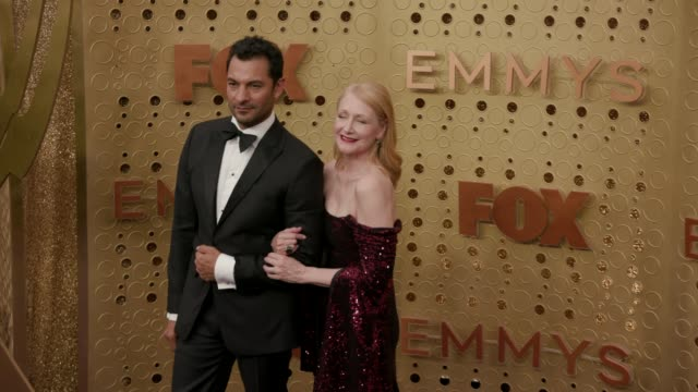 darwin shaw and patricia clarkson at the 71st emmy awards - arrivals at microsoft theater on september 22, 2019 in los angeles, california. - emmy awards stock videos & royalty-free footage