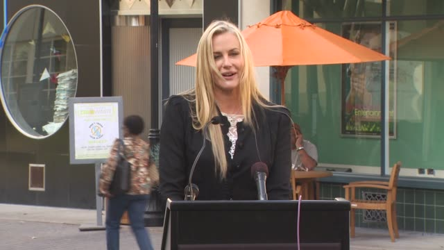 daryl hannah at the ema's press event to launch the california green community challenge at culver city ca - daryl hannah stock videos & royalty-free footage