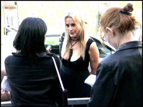 daryl hannah at the environmental media awards at wilshire ebell theatre in los angeles, california on october 1, 2005. - environmental media awards stock-videos und b-roll-filmmaterial