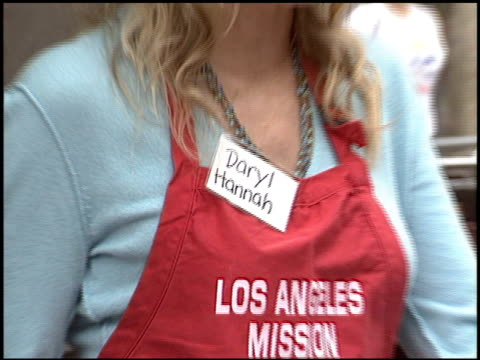 daryl hannah at the los angeles mission thanksgiving at downtown in los angeles california on november 23 2005 - daryl hannah stock videos & royalty-free footage