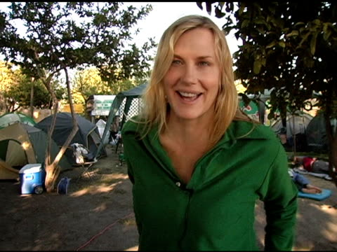 daryl hannah on being here to support south central farm the largest urban farm in the country which supports more than 350 people in south central... - daryl hannah stock videos & royalty-free footage