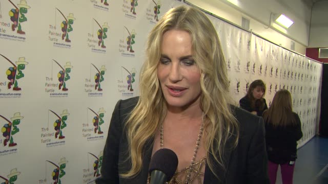 daryl hannah on what it means to carry on paul newman's legacy through the evening what he appreciates about the painted turtle why carole king is... - daryl hannah stock videos & royalty-free footage