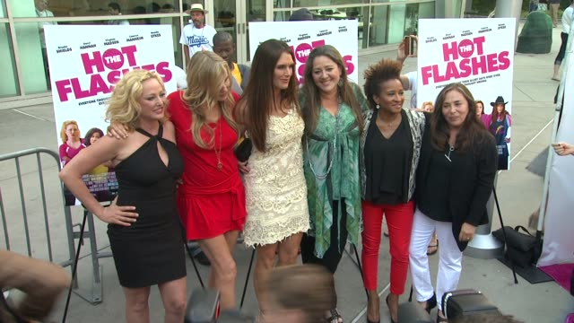 daryl hannah virginia madsen brooke shields camryn manheim wanda sykes at the hot flashes los angeles premiere on 6/27/2013 in hollywood ca - wanda sykes stock videos and b-roll footage