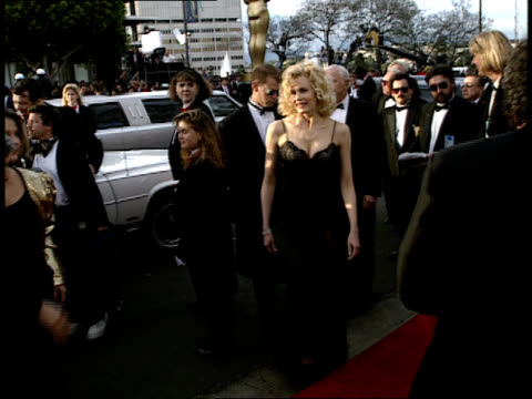 daryl hannah walks down the red carpet at the 64th annual academy awards - daryl hannah stock videos & royalty-free footage