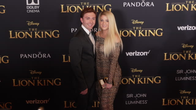 daryl sabara and meghan trainor at the world premiere of disney's the lion king at dolby theatre on july 09 2019 in hollywood california - meghan trainor stock videos & royalty-free footage