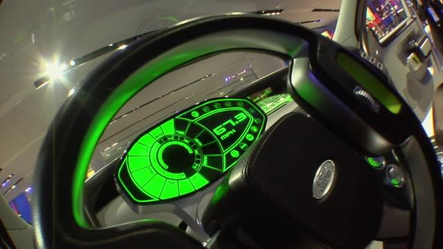 cu zo dashboard and interior of ford flex at detroit auto show/ detroit, michigan - okänt kön bildbanksvideor och videomaterial från bakom kulisserna