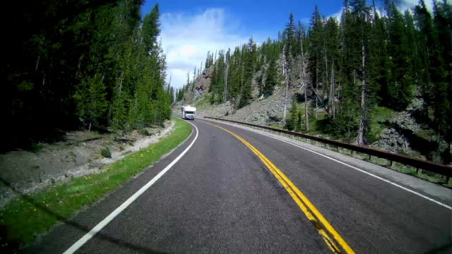 dashboard camera point of view of rv driving behind - motor home stock videos and b-roll footage