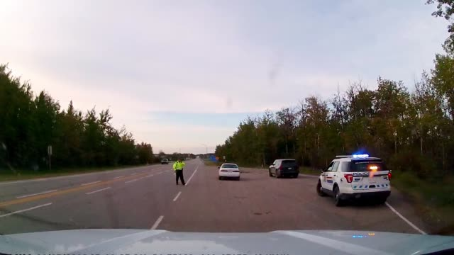 dashboard camera pov of police stop on highway - stop sign stock videos & royalty-free footage