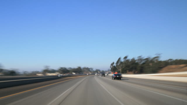dashcam 4 hd freeway day time - high speed photography stock videos & royalty-free footage