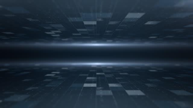 vídeos y material grabado en eventos de stock de fondo de datos, loopable - azul oscuro