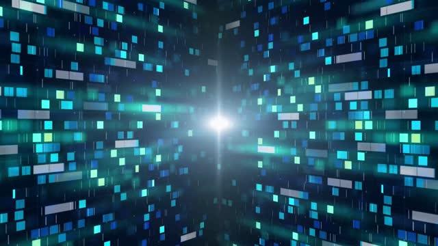vídeos y material grabado en eventos de stock de 4k data background loopable - mosaico