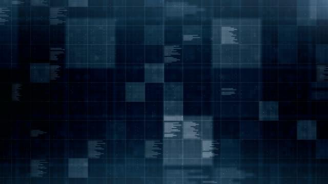 vídeos y material grabado en eventos de stock de datos de fondo, loopable - azul oscuro