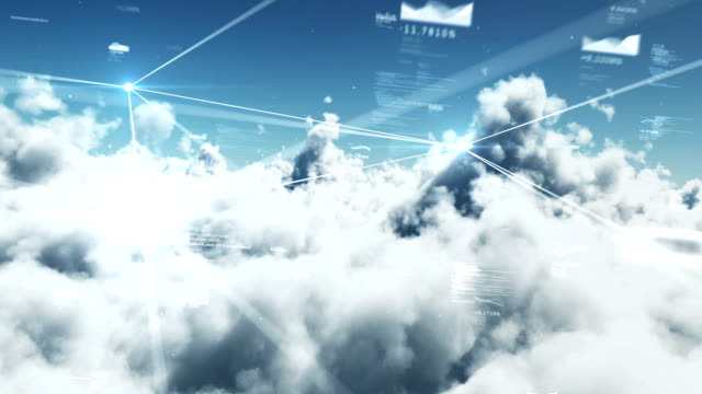 data & clouds - cloud computing stock videos & royalty-free footage