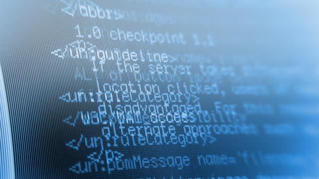 CGI, Data code on computer screen