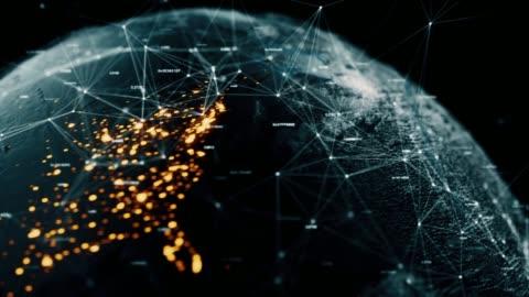 data earth - blockchain stock videos & royalty-free footage